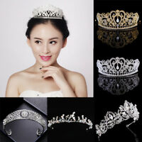 Women Wedding Bridal Pearl Crown Tiara Princess Hair Head Band Prom Party Decor