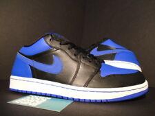 2008 Nike Air Jordan I Retro 1 Phat Low OG BLACK ROYAL BLUE WHITE 338145-041 9.5