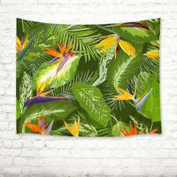 Peacock Leaves Cactus Flamingo Tapestry Wall Hanging Living Room Bedroom Decor