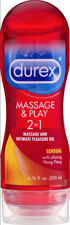 2 Pack Durex Massage & Play 2-in-1 Massage Gel & Personal Lubricant Sensual !