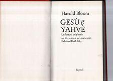 gesu' e yahve - harold bloom