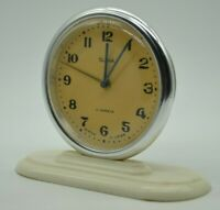 SLAVA Russian Soviet Vintage Mechanical Table Alarm Clock Working USSR SERVICE 2