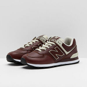 NEW BALANCE 574 CLASSIC LEATHER SHOES MEN'S SIZE US 9.5 DARK BROWN ML574LPB