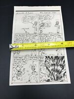 Rare 1984 Gary Panton Original Comic Strip Newspaper Pee Wee's Playhouse
