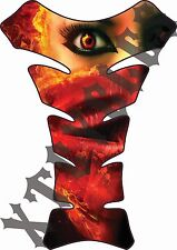 Fire Girl - Deluxe Gas Tank Protector 3D Gel Pad Guard - Motorcycle Tankpad