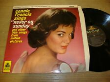 Connie Francis - Never On Sunday - LP Record  G+ VG
