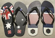 2x Rip Curl Mens Flip Flops Thongs Jandals Australian Flag - Size US 10 Euro 43