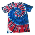 TIe dye T-shirts American Swirl Adult Large Short Sleeve 100% Cotton