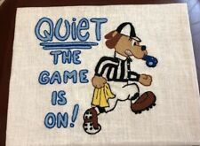 cute finished Kappie Stitchery soccer Sports Quiet The Game  Is On referee dog