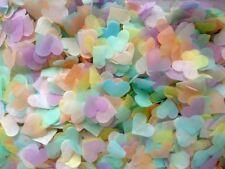 3500 PASTEL Wedding Confetti Biodegradable Tissue Paper Hearts FILL 4 CONES Eco