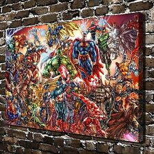 Avenger and Justice League HD Canvas Print Paintings Home Decor Wall Art Picture