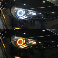 60MM-120MM COB Angel Eyes Halo 12V SMD Car LED Light Ring DRL Headlight Lamp UK