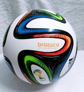 FIFA WORLD CUP 2014 BRAZIL ADIDAS BRAZUCA OFFICIAL SOCCER MATCH BALL SIZE 5