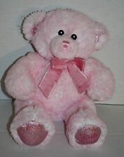 "Kids Preferred TEDDY BEAR 12"" Little Princess Pink Soft Toy Plush Stuffed Lovey"