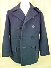 POLO RL by Naval Taylors Women Double Breasted Navy Wool Blend Peacoat, sz L