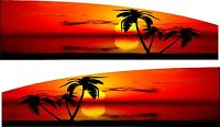 Tropical Palm trees sunset Boat Car Truck Trailer RV Graphics Decals Stickers