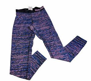 NIKE PRO Dri Fit  Leggings Size S Purple Black