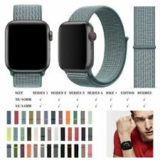 Woven Nylon Sport Loop Band Strap Bracelet For iWatch Apple Watch Series 5 4 3 2