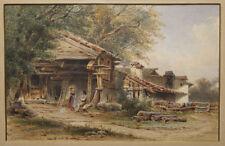 Hermann KLEE (1820-1894) Idyllische, bäuerliche Landschaft