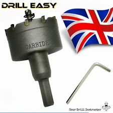 100 mm hss métal bois alliage trou scie fraise drill bit carbide tip tct perceuse