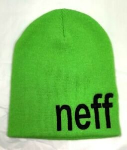 Neff Daily Beanie - Green, Large Print - Free Domestic Shipping