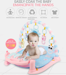 Kids Baby Gym Play Mat Lay + Play 3 in 1 Fitness Music And Lights Piano Boy Girl