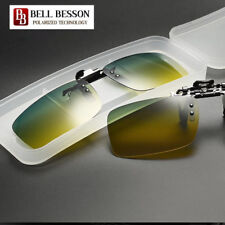 2018 Polarized Day Night Vision Flip-up Clip-on Lens Driving Glasses Sunglasses