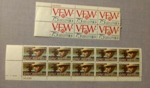 2~sheets of  US 10 cent stamps,VFW 75th Ann. DW GRIFFITH , 16~ 10¢ STAMPS !!