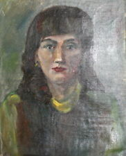 Impressionism Female Portrait Vintage Oil Painting