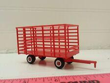 1/64 ertl farm toy red case ih massey Plastic standi toys hay bale throw wagon