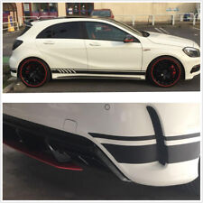 1 Pair Gloss Black Top Quality Vinyl Decal Stripes Stickers For Mercedes Benz