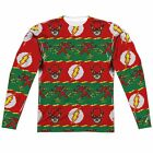 The Flash DC Comics Ugly Christmas Sweater Sublimation Long Sleeve Shirt
