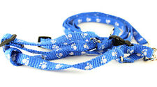 Dog Training Leash Harness Collar Paw Print Rope Pet Puppy Long Strap Durable
