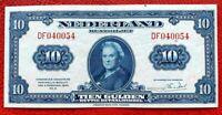 Nederland Banknotes Ten(10) Gulden 1943 VF