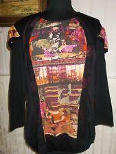 Tee shirt top tunique polyamide noir imprimé  JUMFIL WAY T.4 44FR