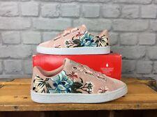 Puma señoras UK 5 EU 38 cesta Corazón Terciopelo Hyper entrenadores florales bordados