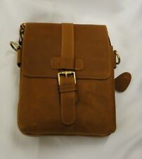 Men's Vintage Genuine Cowhide Leather Crossbody Messenger Bag