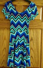 RUE21 S Small Womens Junior Short Summer Dress Criss Cross Open Blue Multi