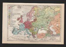 Landkarte map 1926: Völker-Sprachen-Karte von EUROPA.