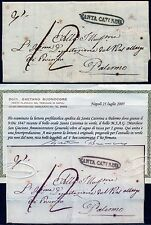 1847 Rara Prefilatelica da Santa Caterina a Palermo  MSAG Certificata Buonocore
