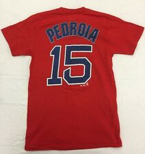 08b6f76fa Dustin Pedroia Boston Red Sox Red Player T-Shirt Majestic Men s Small