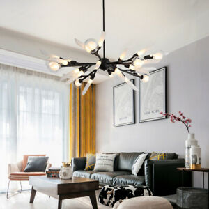 Black Chandelier Lighting Office Pendant Light Large Ceiling Lights Kitchen Lamp