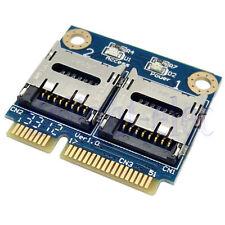 Mini&Micro SD SDHC SDXC to Mini PCIe Memory Card TF to mPCIe Reader Adapter DG