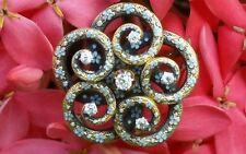 Antique 14k Gold Enamel Diamond Love Knot Victorian Brooch Pin/Gold Watch Pin
