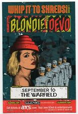 Mint Original 2009 Blondie Devo 'Whip It To Shreds' Tour San Francisco Handbill