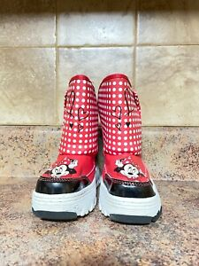 TODDLER GIRL'S Minnie Mouse SNOW BOOTS-SIZE: 9/10