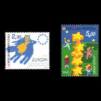 "Croatia 2000 - EUROPA Stamps ""Tower of 6 Stars"" - Sc 428/9 MNH"