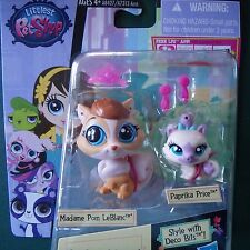 Littlest Pet Shop NEW  3666 Madame Pom LeBlanc cat Paprika Price #3667 kitten