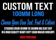 Custom Sticker Decal 100mm Vinyl Made Word Text Cut Lettering Car Motorcycle