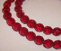 Czech Preciosa fire polished faceted glass beads 4mm 6mm 8mm 10mm 12mm Ruby Red